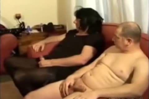 daddy female dom and young ladyboy foursome with two males