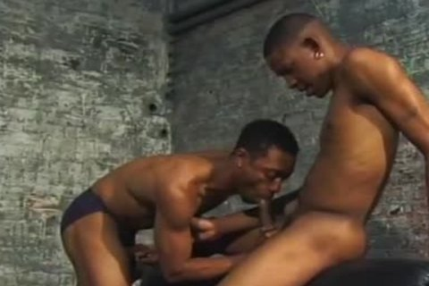 darksome homo couple poke Each Other In Dungeon