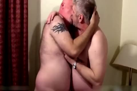 Two lusty daddies in bedroom