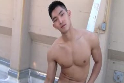 oriental Chinese stylish lad stroking