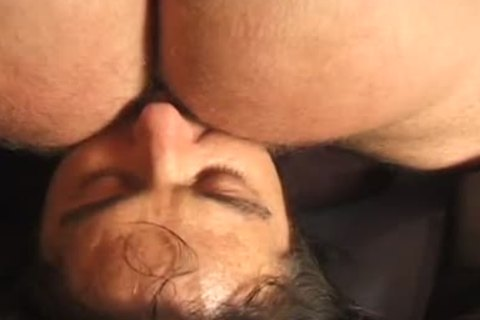 Leather Booted Daddy Sits On Punk's Face