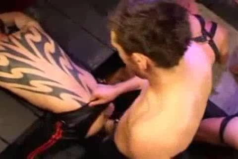 Leather anal slamming And Fisting