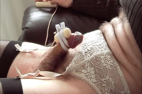 CD Edges And Cums Watching Porn With belted On fake penis