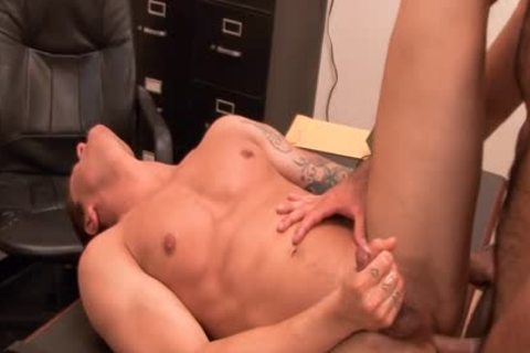excited homo acquires arse team-poked At Interview