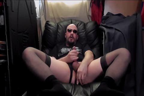 anal dildo And Masterbation,in darksome nylons