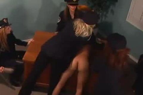 delicious Femdom Prison Guards weenie nail A homo Inmate