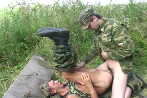 A homosexual Soldier Is plowed By His Boss