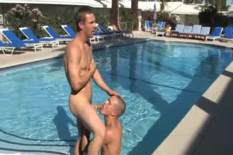 Hotel Guest bangs His Maid guy By Pool' Data-max=