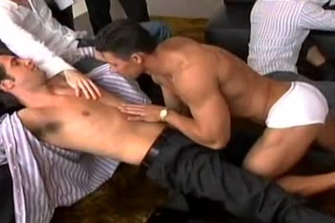 A Striptease That Leads To A large homo fuckfest!