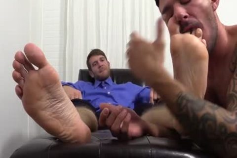 lustful Colby Jerks Hard ramrod During Foot Worship From Johnny