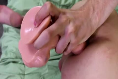 yummy twink Alex Ria Stuffs A gigantic vibrator Up His taut anal