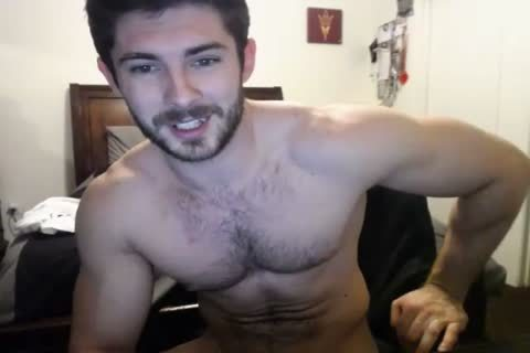 tasty hairy Hunky Doing A web camera Show.