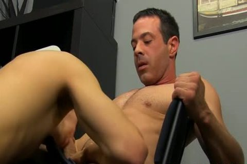 Hunk Mr. Manchester nailing twink hole All Over His Office