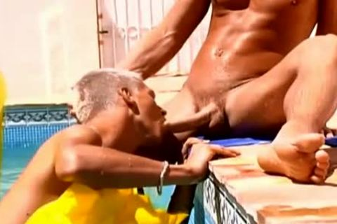 Wow delicious rods yummy Poolside homosexual hammer