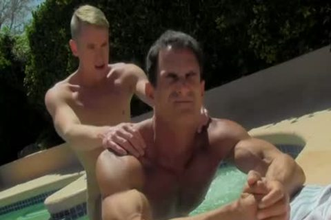 handsome muscular dudes Having hardcore pleasure By The Pool