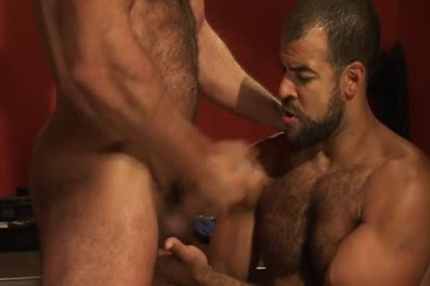 A bushy Hung dark Skinned Bear acquires came From A Great Member And pooper gangbang Action