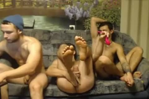 3 Randy Russian Straight Individuals Go homo For The First Time On cam