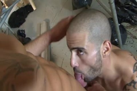 Tattoo homosexual piss With ball cream flow