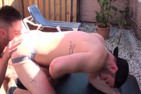 hirsute Son anal wazoo plowing And sperm flow