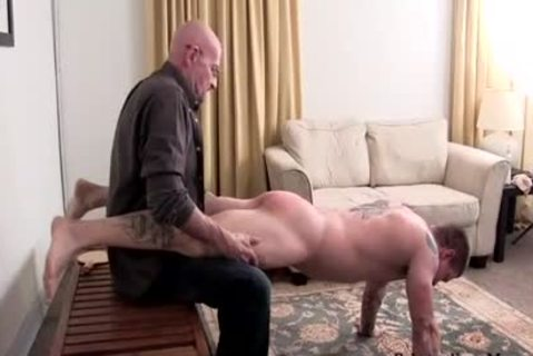 Muscle amateur spanking With spunk flow