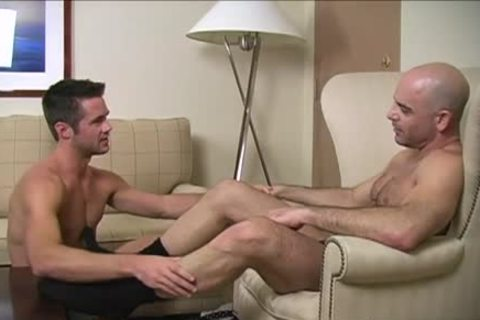wild gay Foot And cumshot