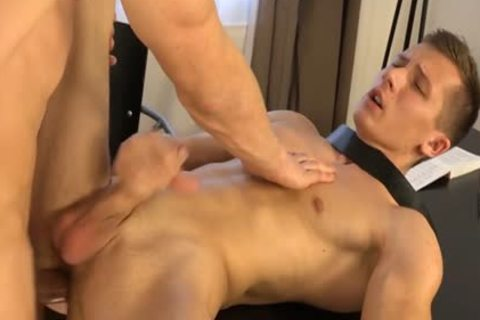 Muscle homosexual Dp With spunk flow
