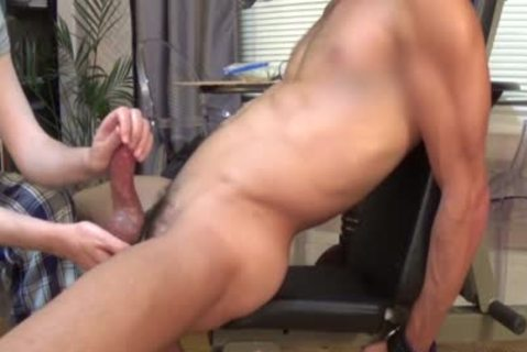 Hunk Is Edged And Cums Three Times