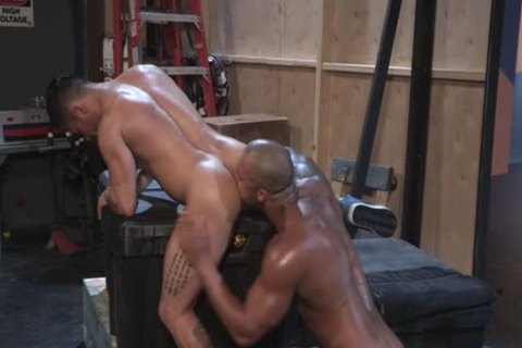 Muscle Bear anal sex With Facial spooge
