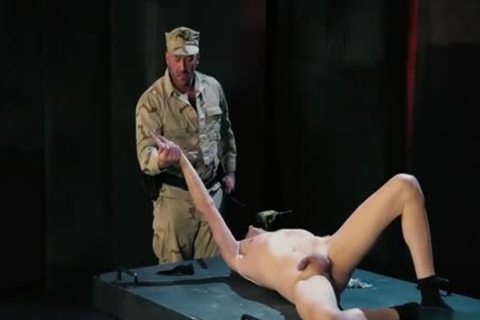 Tattoo Military Fetish With goo flow