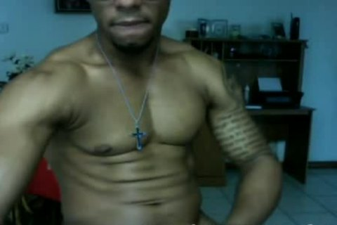 Dominican Straight muscular Papi Jerks Off