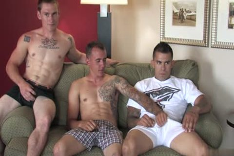 Tattoo Military threesome And ejaculation