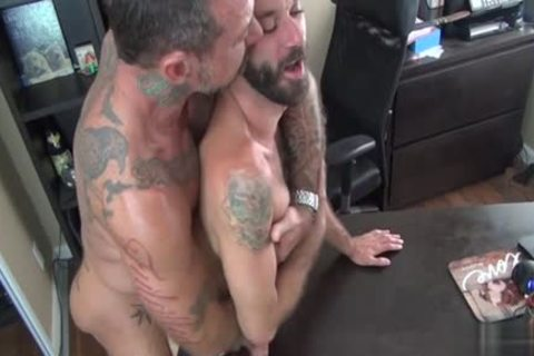 brunette Bear a-hole stab With semen flow