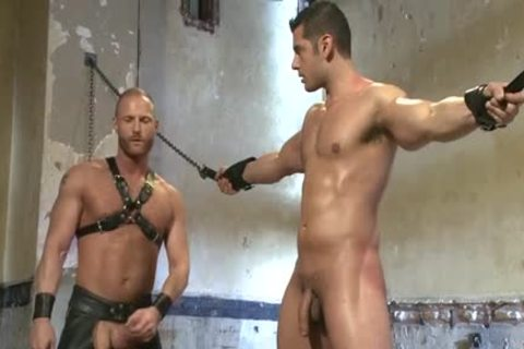 Muscle homo tied And Facial cum