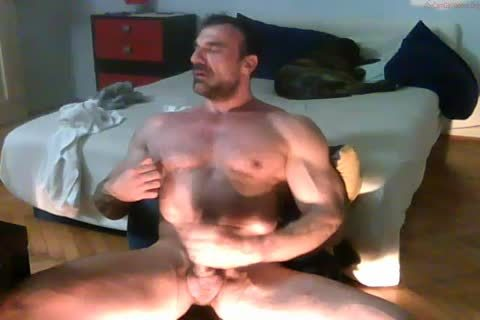strong old Hunk stroking