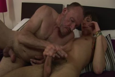 MenVsBoys - Balding homosexual pokes The darksome hole Of A lusty lad