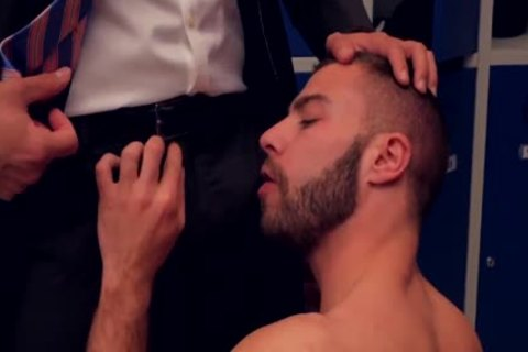 Teddy Torres pounded In The Locker Room