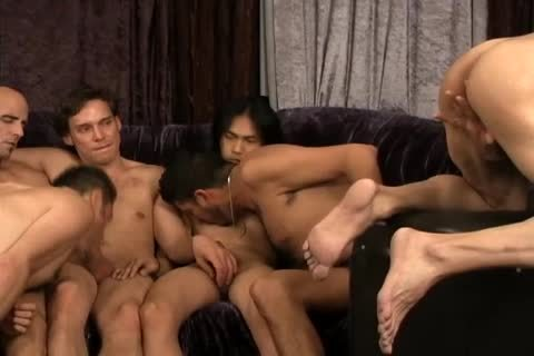 A group Of homo friends All banging jointly