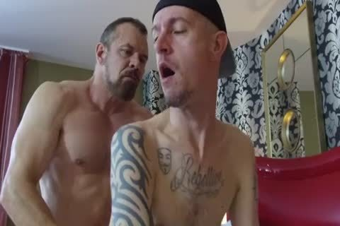 Robert Rexton get's banged By Muscle Daddy's Max Sargent & Chance Caldwell