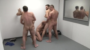 The Line Up - Landon Conrad with Trevor Knight butthole invasion