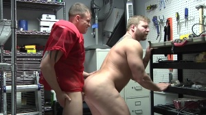 Janitor's Closet - Colby Jansen with Darin Silvers anal plow