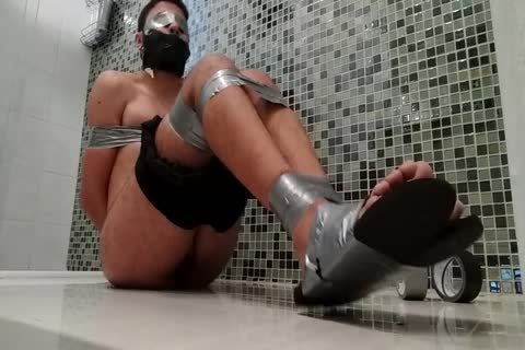 sweet twink In Shorts N Flip Flops Is bound Gagged N Blindfolded
