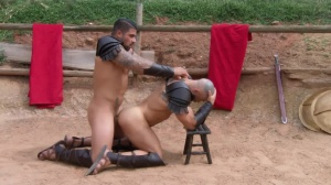 Sacred band Of Thebes - Francois Sagat and Ryan drills butthole slam