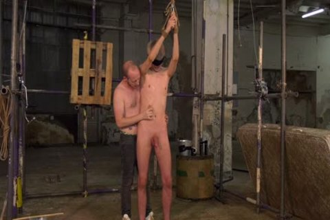 Blindfolded gay Sky Heet Waxed And Dungeon suck job-stimulation