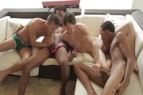 Mammoth black males In orgy
