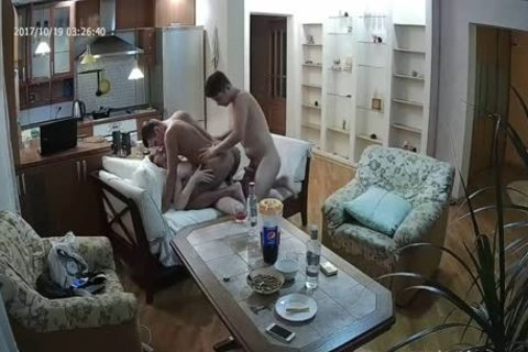 juicy Voyeur gay 3some With a lot of oral-sex