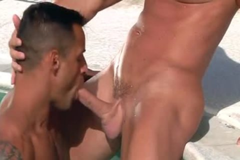 David Benjamin And Mitch Vaughn In Trunks