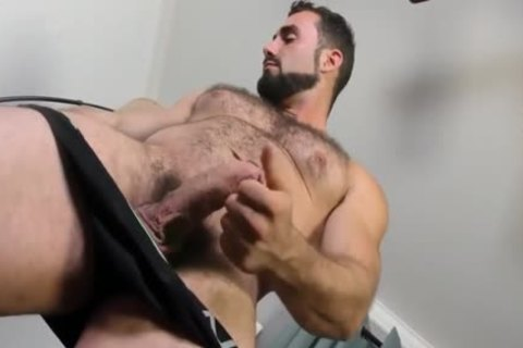 Jaxton Wheeler stroking Is hairy wang