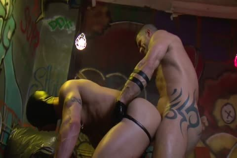 Adam Killian In Latex Forces Jesse Santana To lick His wazoo