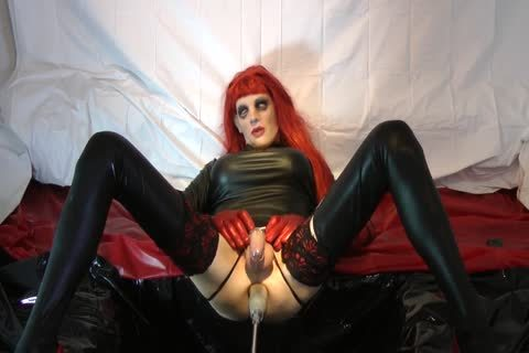 Redhead Sissy gets banged With Chastity Belt