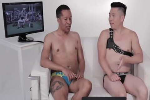 Two chaps In Jockstraps Watch Sexercise Porn clip Starring Sir Jet   Atlas
